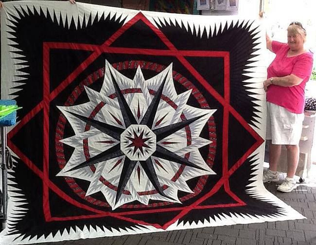 Mariner's Compass, Quiltworx.com, Made by Joy.