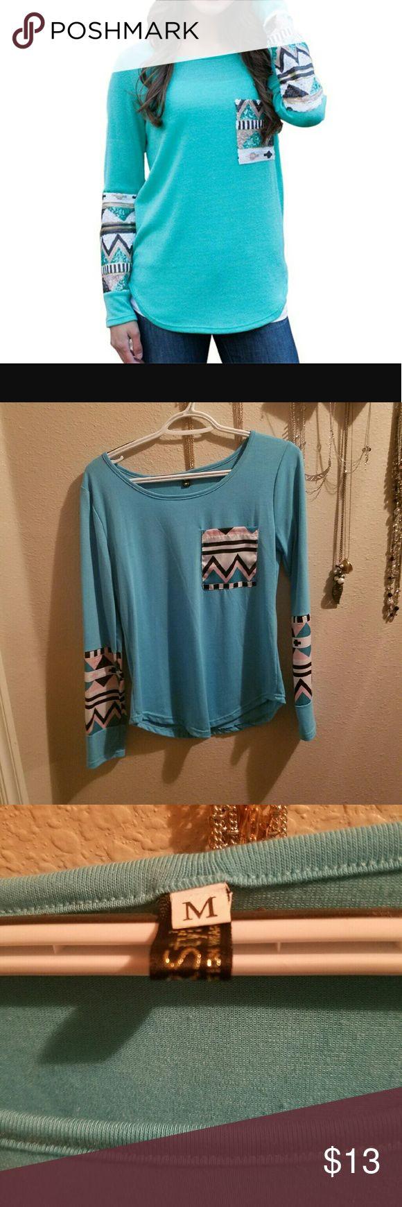 Long sleeve shirt Long sleeve aztec shirt. Cute shirt. Tops Tees - Long Sleeve