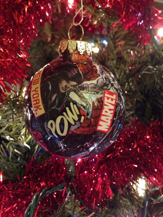 Marvel Super Hero Ornaments by CrowbarCreations on Etsy