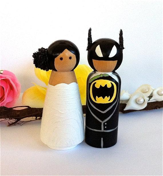 Batman Wedding Cake Topper Superhero Bride And Groom