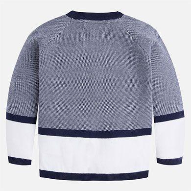 Casaco menino tipo cardigan em tricô Azul - Mayoral