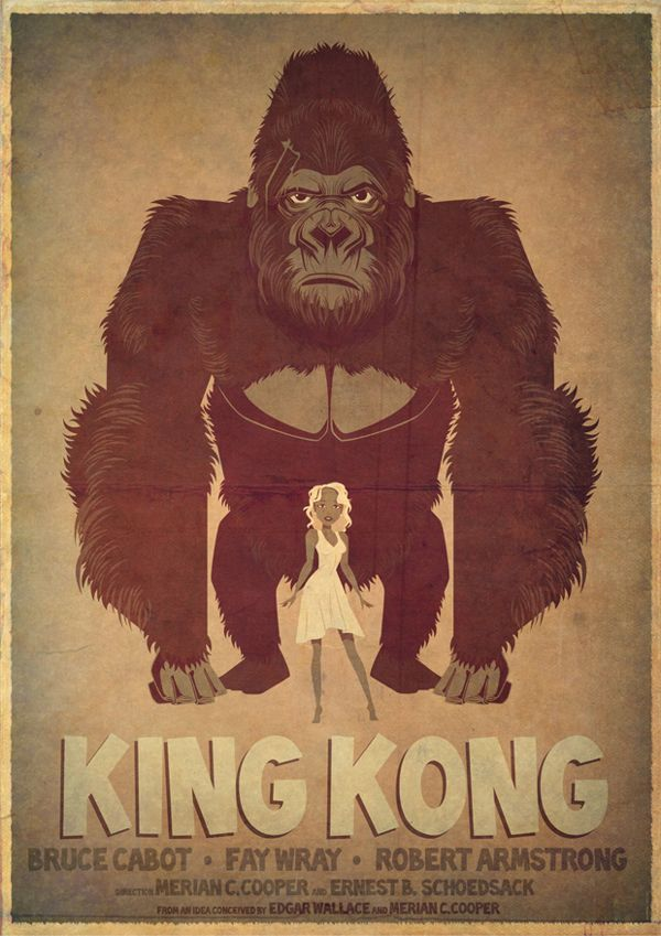 King Kong Poster by James Gilleard, via Behance