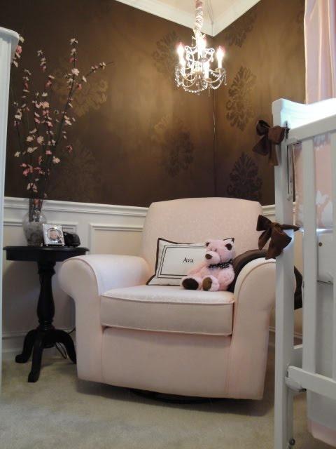 Chocolate Brown U Pink Nursery With Brown And Pink Nursery Decor.