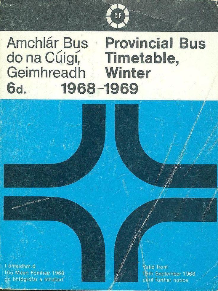CIE Provincial  Bus Timetable 1968 Ballycotton Camden