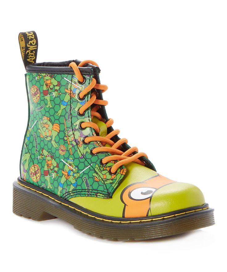 Look at this #zulilyfind! Green Mikey Boot - Toddler & Boys by Dr. Martens #zulilyfinds