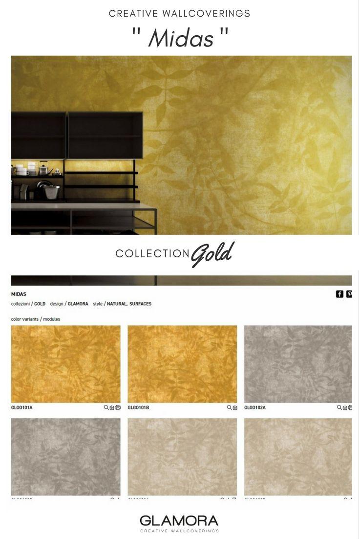 Midas | Natural Wallcovering & Carta da Parati | Gold Collection by Glamora