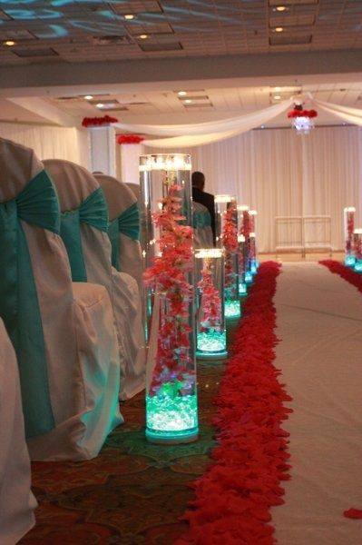 Need an idea for the wedding aisle place led vase lights