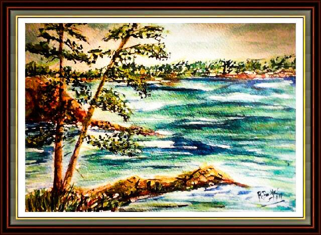 Monument Cove at Acadia- Original Watercolor painting by Robin Booker 9x12 by BluberryHillBoutique on Etsy