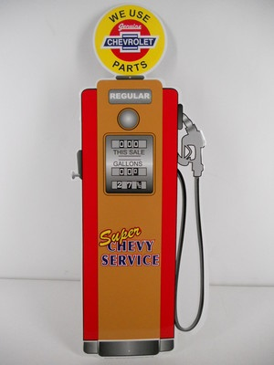 Chevy Service Gas Pump Station Sign