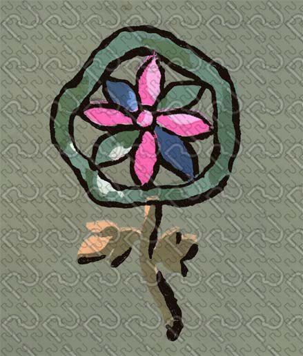 (9162) 20's flat graphic flower – anni 20 fiore piatto grafico (preview150dpi) – Imagesfashiontextiles