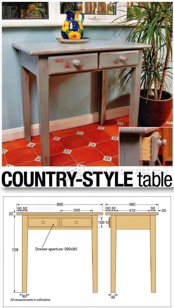 Country Table Plans   Furniture Plans And Projects | WoodArchivist.com