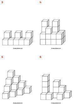47 best Rekenen blokken bouwen/ruimtelijk inzicht images