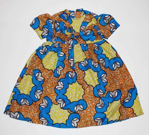 Gold & Blue Bow, Cap Sleeve Dress