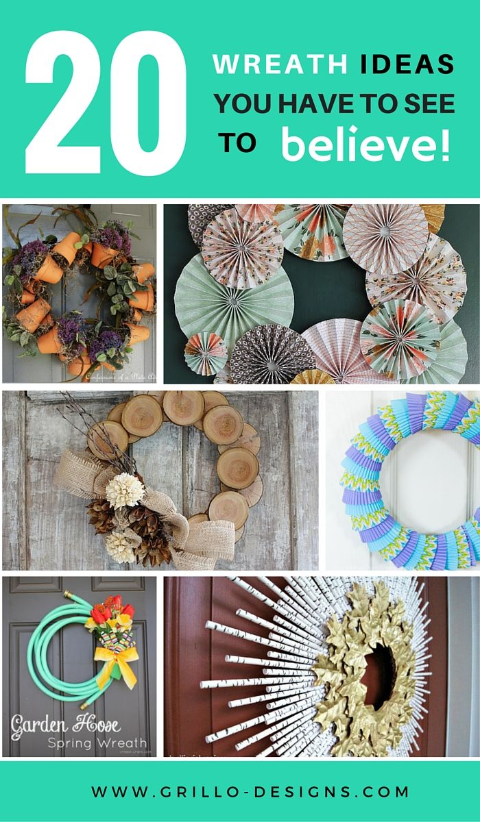 There are so many different ways to make a wreaths. Here are 20 creative wreath ideas will blow your mind - you really do have to see to believe!