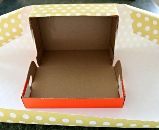 How to turn shoe boxes into pretty storage boxes with wrapping paper.