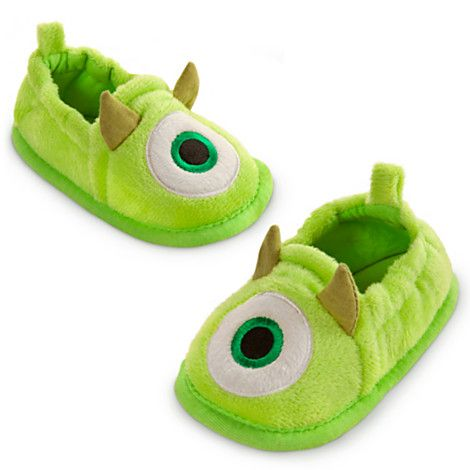 monsters university mike plushes | Mike Wazowski Slippers Shoes Baby Infant 0 2 yrs Disney Store Monster ...