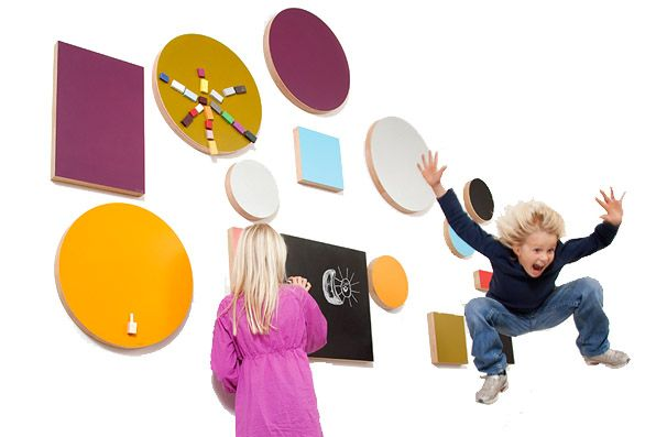 Magnetic chalkboards by Kotonadesign
