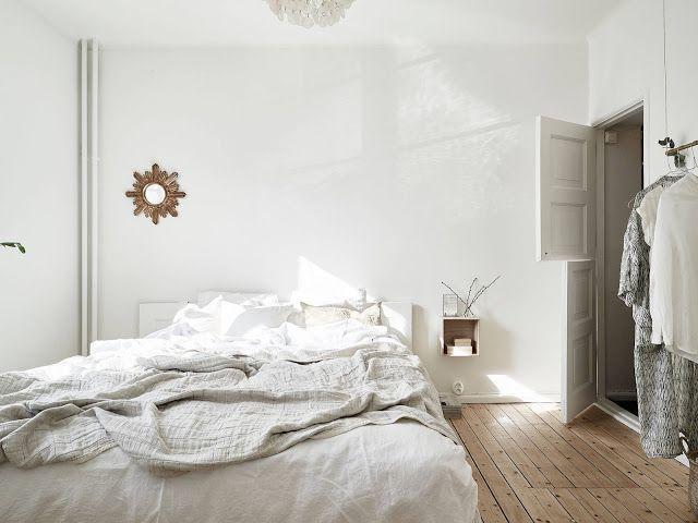 minimalistyczna sypialnia, skandynawska sypialnia