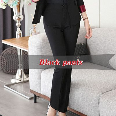 Fashion Upscale professional business Formal pants women Straight trousers female work wear office career style 5XL plus size