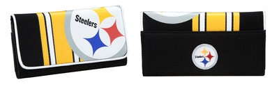 Official NFL Football Pittsburgh Steelers Womens Mesh Wallet Organizer NEW