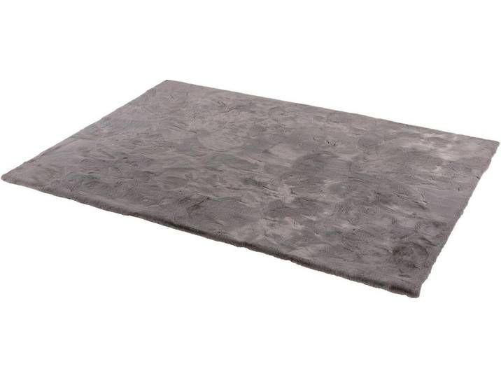 Fellteppich Grau Eckig 160x230cm Tender Schoner Wohnen Kollektion Teppich Fellteppich Hochflor Teppich