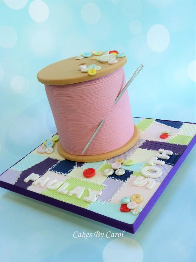 Cotton Reel - Sewing theme  by Carol