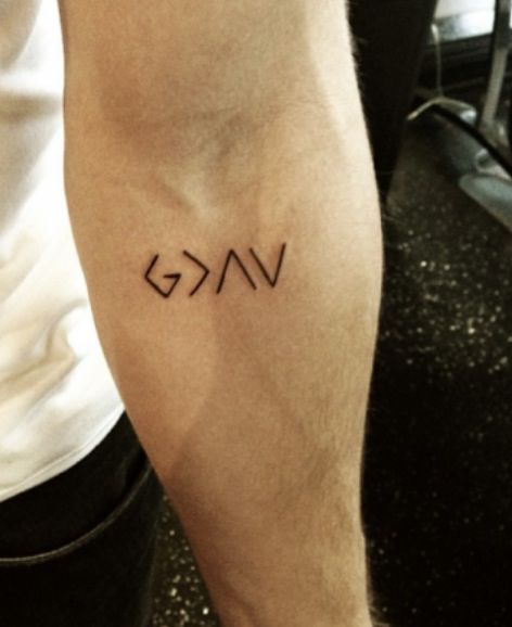 """""""God is greater than the highs and lows."""" Love this tattoo!"""