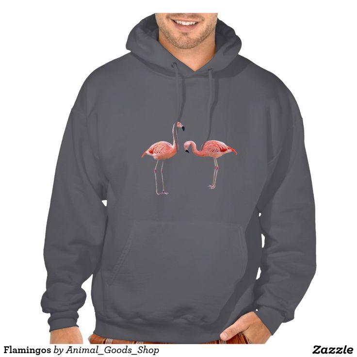 Flamingos フード付きスウェットシャツ