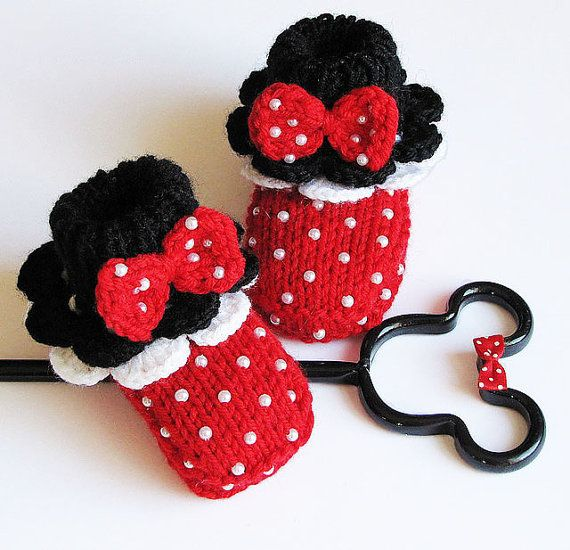 """Baby booties """" Minnie's Red Booties"""""""
