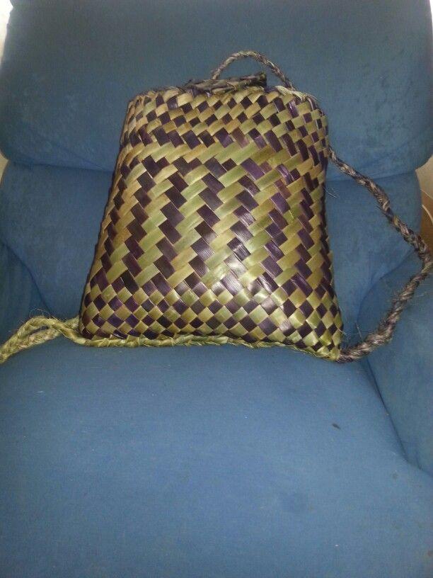 Purple and natural Pikau whiri top and bottom