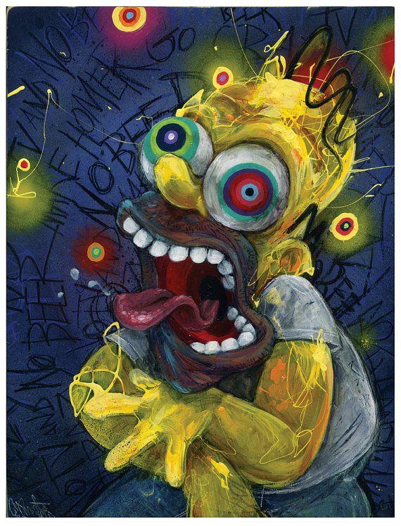 Homer-Kunstdruck die Simpsons Homer Simpson von BlackInkArtz