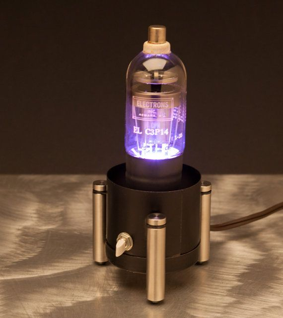 Vintage Vacuum Tube Lamp  Handmade Industrial by obscurearchive