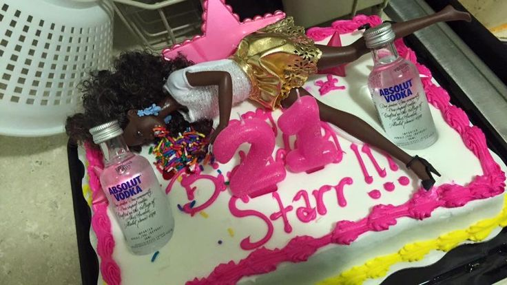 Drunk Barbie Cake 21st Birthday