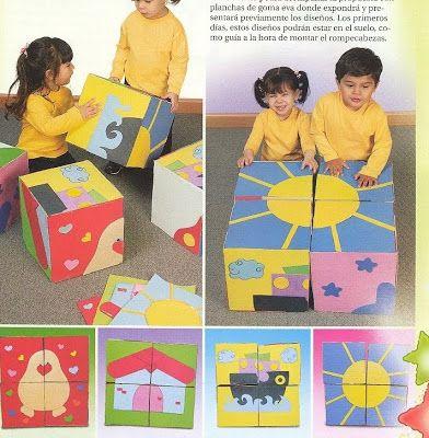 Brinquedos feitos com Caixas de Papelão