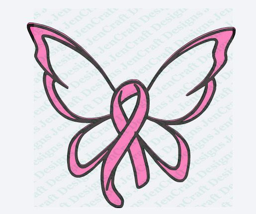 Awareness Ribbon with wings SVG Cut Files - for Cutting Machines like Cricut Design Space and Silhouette Studio by JenCraftDesigns on Etsy