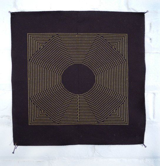 """Project Icarus by Sharon Mossbeck. Cross Stitch art titled """"Maze."""""""