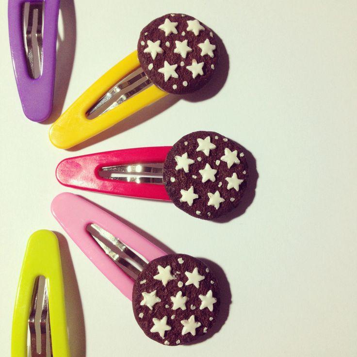 Pan di stelle hair clips