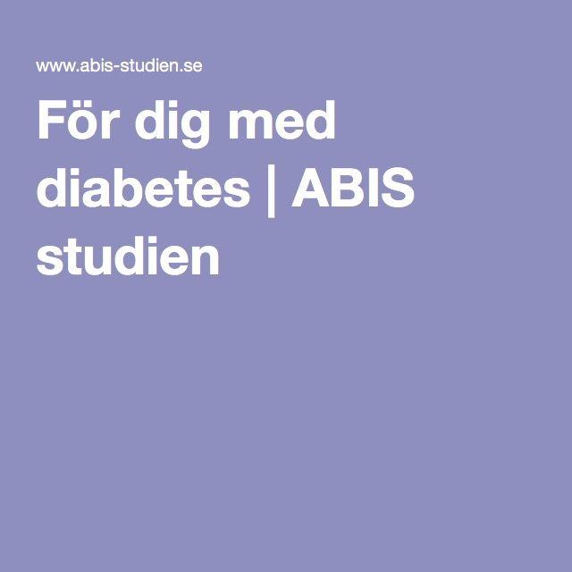 För dig med diabetes | ABIS studien
