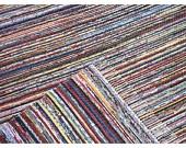 Blue & Green Striped Rug, 4' x 6.5'. $150.00, via Etsy.Rag Rugs, Blue Green, Stripes Rugs, Green Stripes