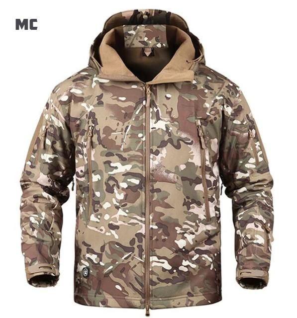 c5158197c69f2 Tactical Softshell Jacket Waterproof Windproof Outdoor Sports Jacket For  Hunting Trekking Travel Military Camouflage Fleece Jacket For Men - 17  Colors