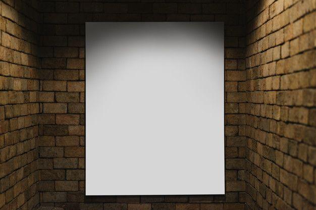 Download Projector Mockup Against A Brick Wall For Free Brick Wall Poster Mockup Mockup