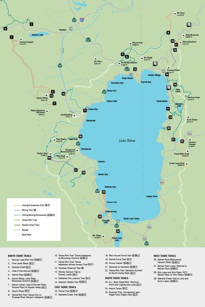 Maps Go Tahoe North
