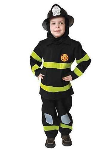 Deluxe Fire Fighter Dress Up Children's Costume Set Size: Small by Dress Up America. $25.24. 203-S Size: Small Features: -Deluxe fire fighter dress up costume set.-Material: Polyester.-Comes complete with jacket, pants and hood / fire helmet sold separate. Options: -Available in toddler T2, toddler T4, small 4-6, medium 8-10, large 12-14 and xlarge 16-18 sizes.. Save 44%!