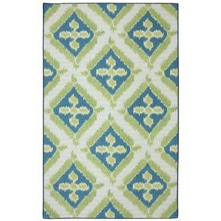 Indoor/Outdoor Floral Splash Rug (5' x 8') - Mohawk Rug - DIY Patio Refresh - Heidi Milton - Mohawk Homescapes