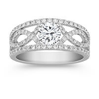 I would want the diamond sunk in so it's just a thick band. BANDS FTW