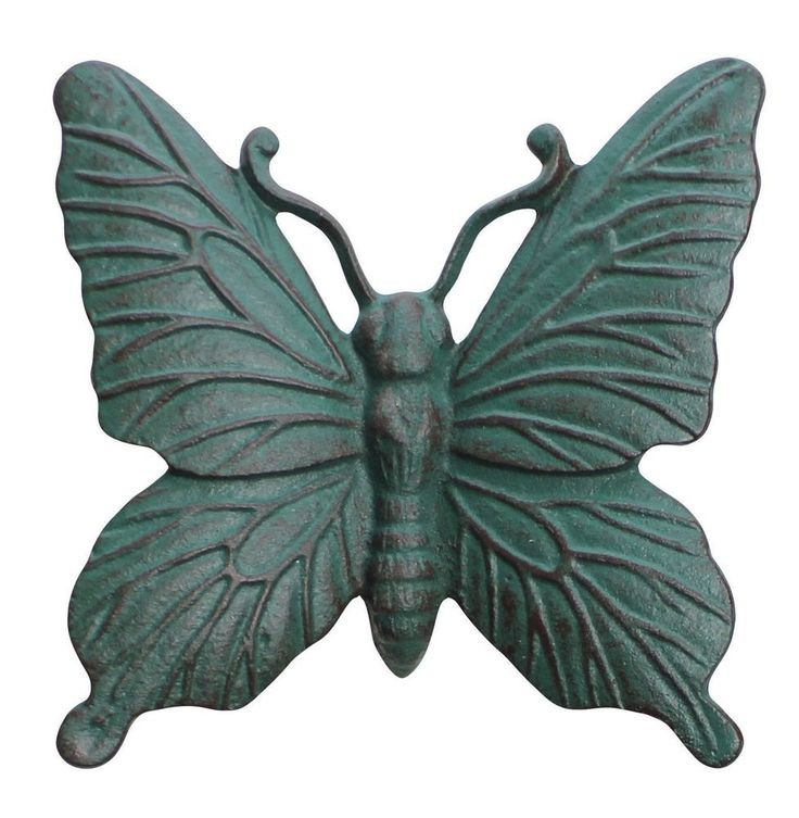 Cast Iron Verdigris Butterfly Wall Mounted Garden Ornament Wall Mountable Art