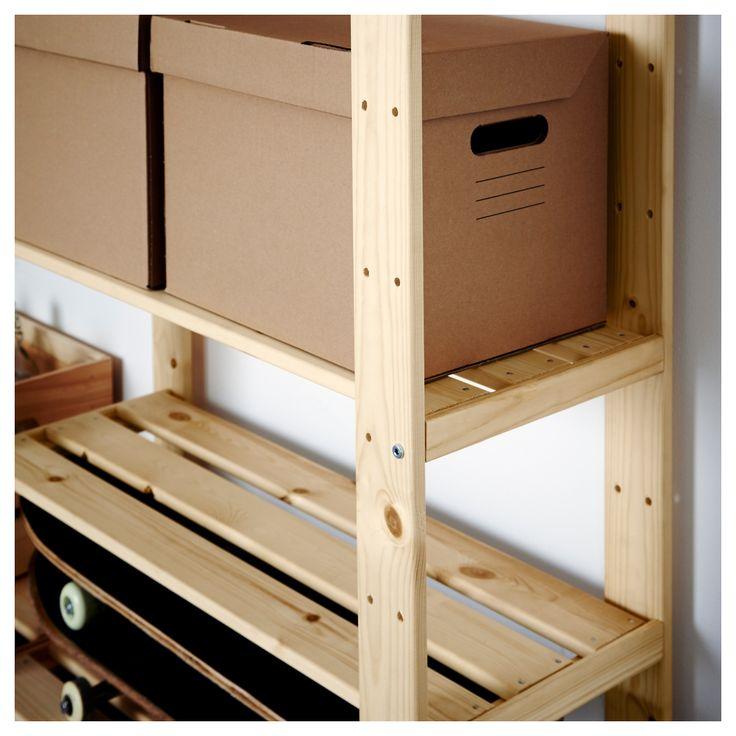 Ikea Hejne 2 Section Shelving Unit Softwood Products