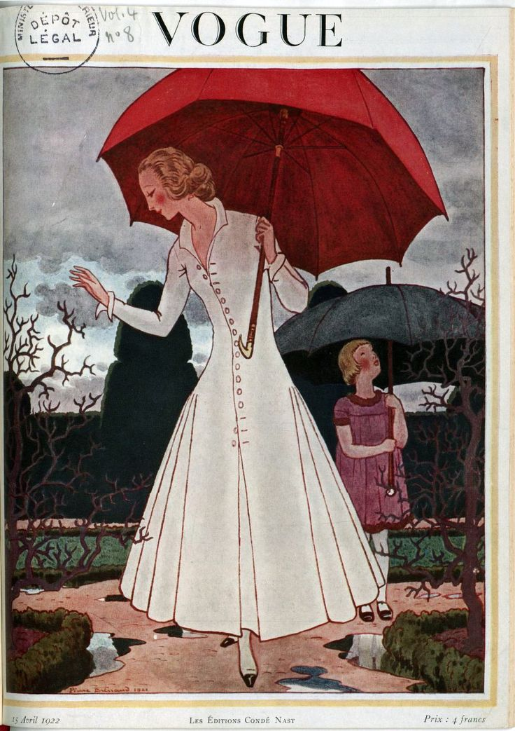 Front cover of Vogue magazine – April 1922. French National Library (Public Domain)