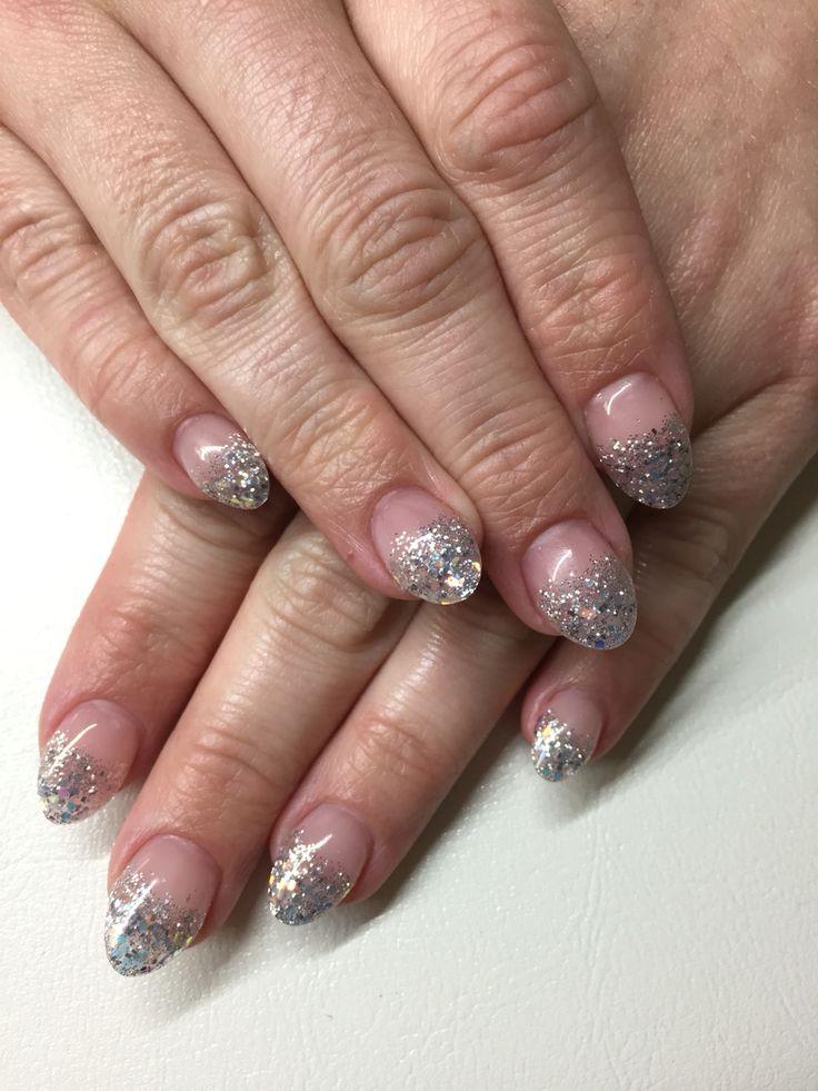EnVogue silver sparkle fade, almond shape