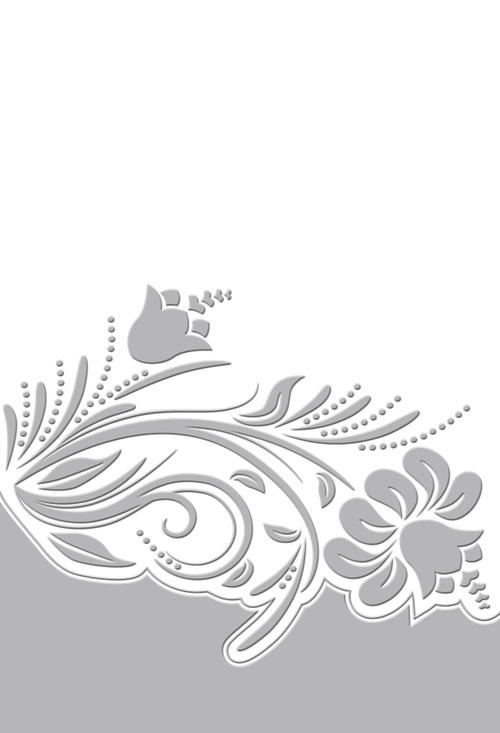 Couture Creations Melody Embossing Folder